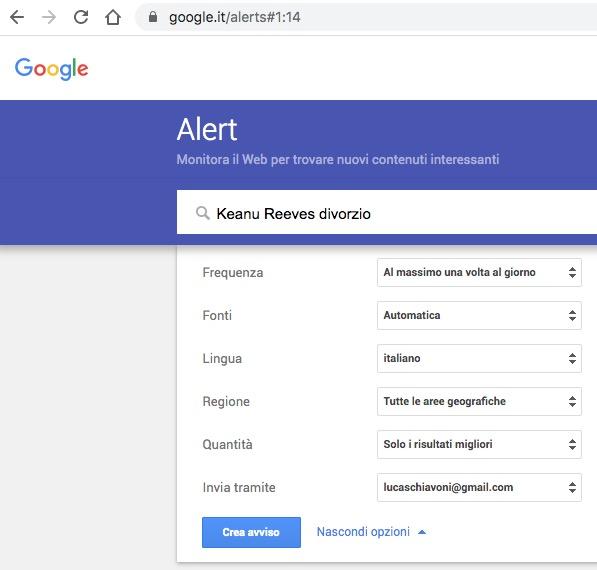 google alert keanu reeves